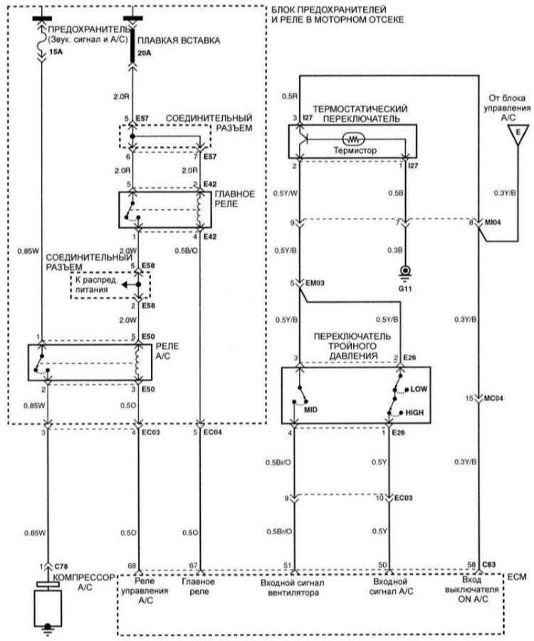 Схема вентилятора и управления