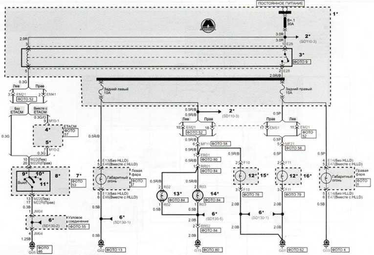 Подсветка номера, задние и стояночные фонари (1)