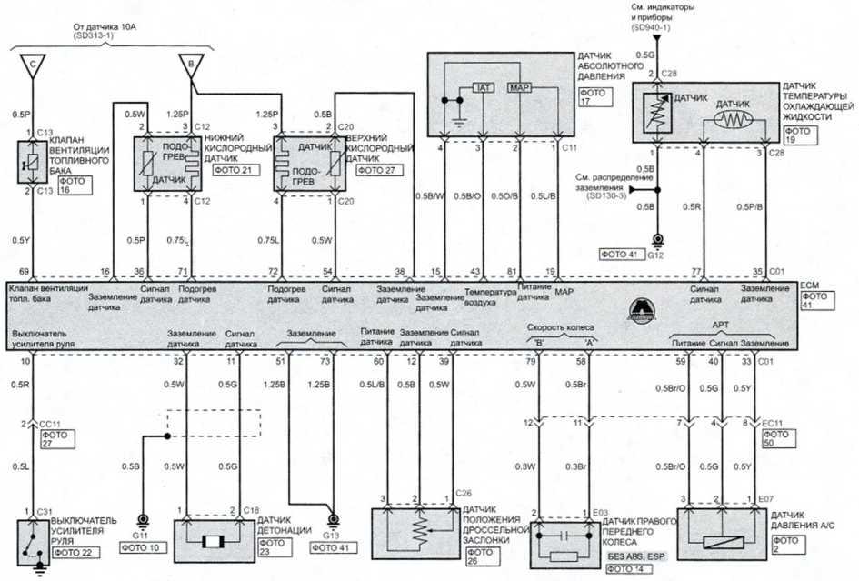 Система управления распределенным впрыском (бенз м/т) (3)