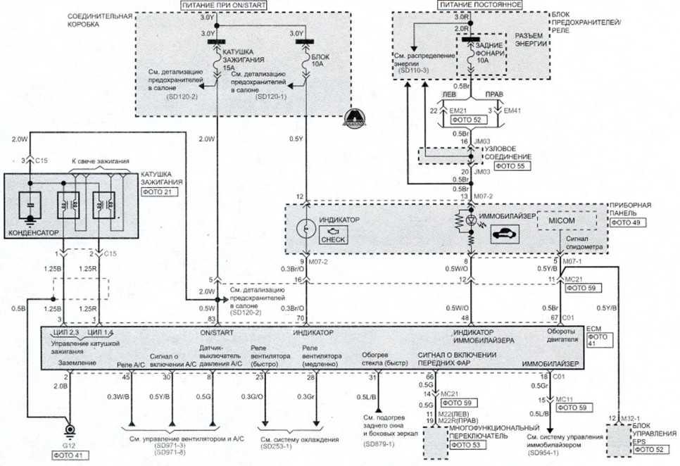 Система управления распределенным впрыском (бенз м/т) (4)