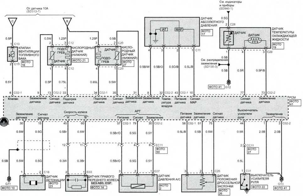 Система управления распределенным впрыском (бенз А/Т) (3)
