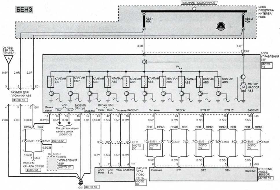 ESP (электронная система стабилизации) (2) - Электросхема Kia Picanto