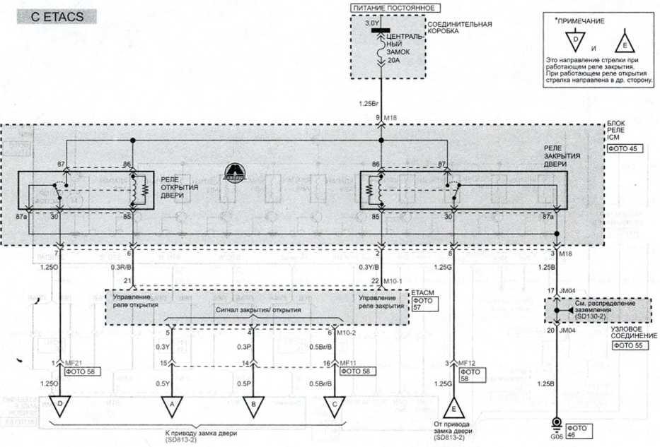 Элекрозамки дверей (1) - Электросхема Kia Picanto